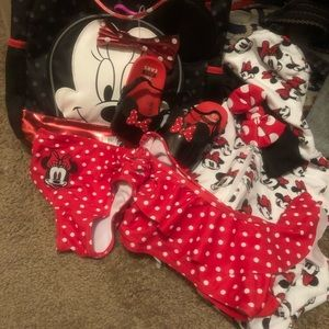 Minnie Mouse Swim Suit Lot/ Disney here we come